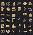 villa icons set simple style vector image vector image
