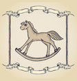 vintage horse label vector image vector image