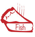 warm fish pie vector image vector image