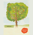 watercolor family tree vector image vector image