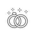 wedding rings line icon vector image