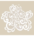 White lace ornament vector image vector image