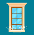 window isolated element in flat design vector image vector image