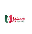 women secret w letter icon vector image vector image