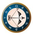 zodiac sign of Sagittarius vector image vector image