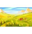 Colorful Summer Landscape Template vector image