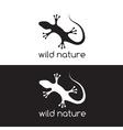 lizard design template vector image