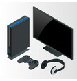video game console isometric vector image