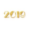 2019 glitter typography design gold sparkling vector image vector image
