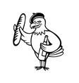 american eagle beret baguette wine cartoon vector image vector image