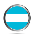 Argentina flag button vector image vector image