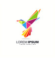 awesome bird colorful logo design vector image vector image