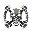 Biker Skull Emblem vector image vector image