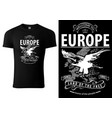 black t-shirt printed with eagle vector image vector image