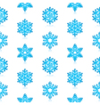 Blue Snowflakes Pattern vector image vector image