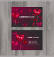 business card templates with realistic balloons in vector image