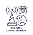 business communication line icon concept business vector image vector image