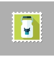 Can container for milk flat stamp vector image