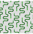 cartoon snake on white seamless pattern vector image