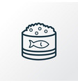 caviar icon line symbol premium quality isolated vector image