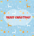 Christmas card with deers pattern vector image vector image