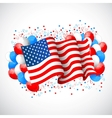 Colorful Balloon with American flag vector image vector image