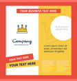 crown company brochure template busienss template vector image
