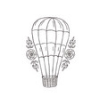 decorative hot ballon with flowers vector image vector image