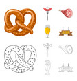design of pub and bar symbol collection of vector image