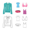 design of woman and clothing sign vector image vector image