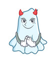 devil cute ghost character cartoon vector image