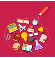 Education icon outlined with Pencil vector image vector image
