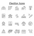 election icons set in thin line style vector image