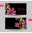 elegant business card with bouquet flowers vector image vector image