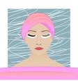 eyelash extension procedure vector image