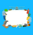 frame with insects and pest control tools vector image vector image