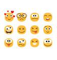 fun smile emoticons faces vector image