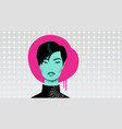 girl with black hair vector image vector image