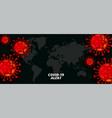 global coronavirus pandemic outbreak background vector image vector image