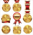 Golden medal collection vector image