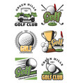 golf game and sport club icons vector image vector image
