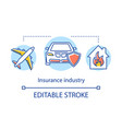 insurance industry concept icon life property