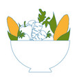 isolated vegetables bowl vector image vector image