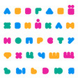 kids multicolored rounded bold cyrillic font vector image