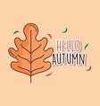 leaf hello autumn design icon vector image vector image