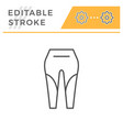 leggings editable stroke line icon vector image vector image