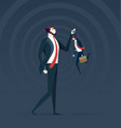 little and big business confrontation metaphor vector image vector image