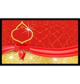 Luxury red festive gift voucher with textured vector image