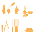 Manicure And Pedicure Equipments Set Monochrome vector image vector image