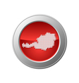 map of austria button vector image vector image